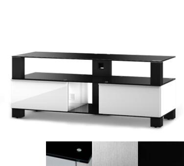 Sonorous MD9120BINXBLK - Meuble pour ecran Plasma/LCD en verre et bois