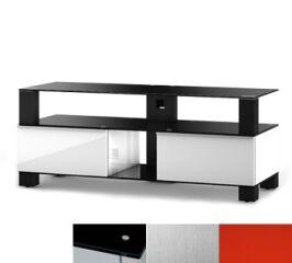Sonorous MD9120BINXRED - Meuble pour ecran Plasma/LCD en verre et bois