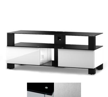 Sonorous MD9120BINXWHT - Meuble pour ecran Plasma/LCD en verre et bois
