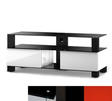 Sonorous MD9120BHBLKRED - Meuble pour ecran Plasma/LCD en verre et bois