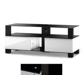 Sonorous MD9120BHBLKWHT - Meuble pour ecran Plasma/LCD en verre et bois