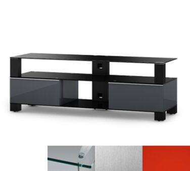 Sonorous MD9140CINXRED - Meuble pour ecran Plasma/LCD en verre et bois