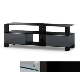 Sonorous MD9140CHBLKBLK - Meuble pour ecran Plasma/LCD en verre et bois