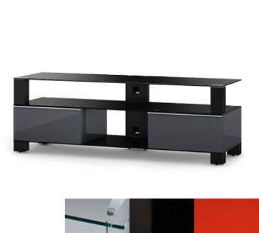 Sonorous MD9140CHBLKRED - Meuble pour ecran Plasma/LCD en verre et bois