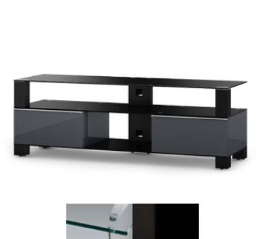 Sonorous MD9140CHBLKWHT - Meuble pour ecran Plasma/LCD en verre et bois
