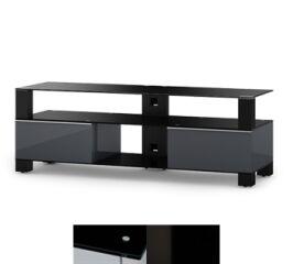 Sonorous MD9140BHBLKWHT - Meuble pour ecran Plasma/LCD en verre et bois