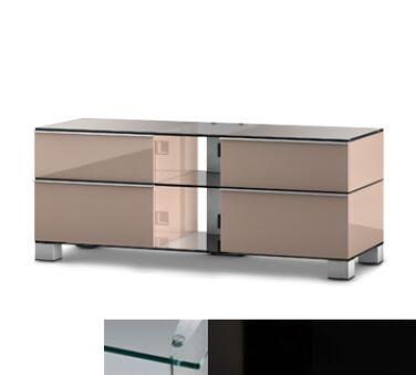 Sonorous MD9220CHBLKBLK - Meuble pour ecran Plasma/LCD en verre et bois