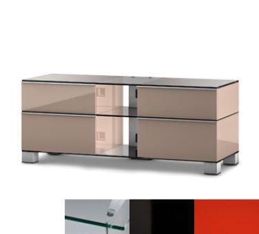 Sonorous MD9220CHBLKRED - Meuble pour ecran Plasma/LCD en verre et bois