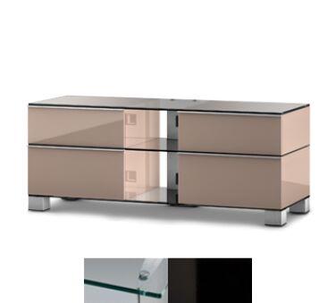 Sonorous MD9220CHBLKWHT - Meuble pour ecran Plasma/LCD en verre et bois