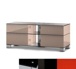 Sonorous MD9220BHBLKRED - Meuble pour ecran Plasma/LCD en verre et bois