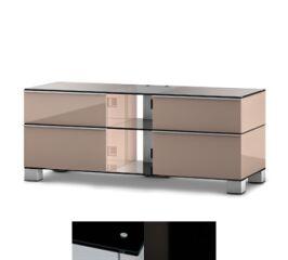 Sonorous MD9220BHBLKWHT - Meuble pour ecran Plasma/LCD en verre et bois