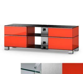 Sonorous MD9240CINXRED - Meuble pour ecran Plasma/LCD en verre et bois