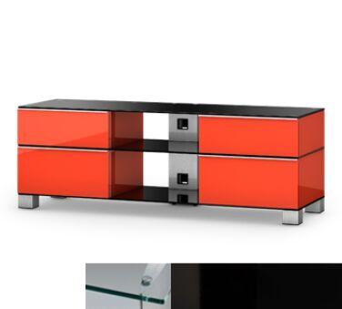Sonorous MD9240CHBLKBLK - Meuble pour ecran Plasma/LCD en verre et bois