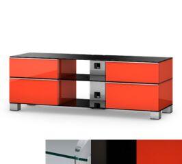 Sonorous MD9240CHBLKRED - Meuble pour ecran Plasma/LCD en verre et bois