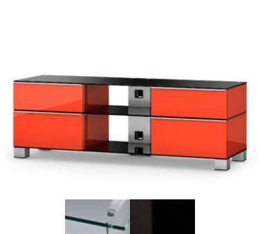 Sonorous MD9240CHBLKWHT - Meuble pour ecran Plasma/LCD en verre et bois