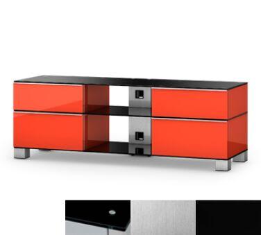 Sonorous MD9240BINXBLK - Meuble pour ecran Plasma/LCD en verre et bois