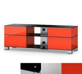 Sonorous MD9240BINXRED - Meuble pour ecran Plasma/LCD en verre et bois