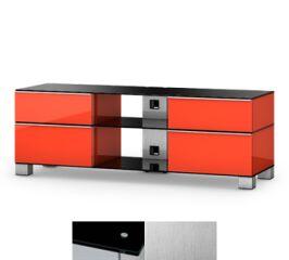 Sonorous MD9240BINXWHT - Meuble pour ecran Plasma/LCD en verre et bois