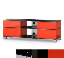 Sonorous MD9240BHBLKRED - Meuble pour ecran Plasma/LCD en verre et bois