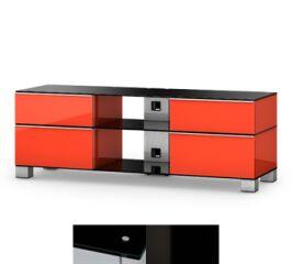 Sonorous MD9240BHBLKWHT - Meuble pour ecran Plasma/LCD en verre et bois