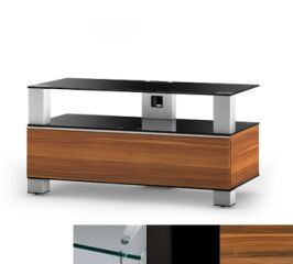 Sonorous MD9095CHBLKAPL - Meuble pour ecran Plasma/LCD en verre et bois