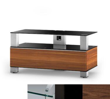 Sonorous MD9095CHBLKWNT - Meuble pour ecran Plasma/LCD en verre et bois