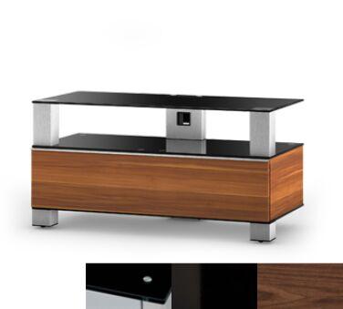 Sonorous MD9095BHBLKWNT - Meuble pour ecran Plasma/LCD en verre et bois