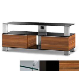 Sonorous MD9120CHBLKAPL - Meuble pour ecran Plasma/LCD en verre et bois