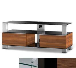 Sonorous MD9120CHBLKWNT - Meuble pour ecran Plasma/LCD en verre et bois