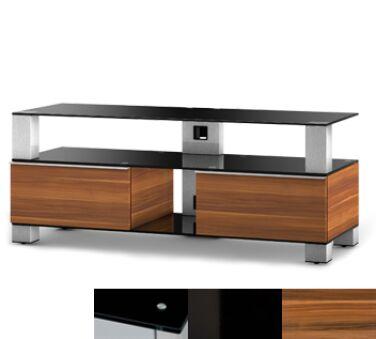 Sonorous MD9120BHBLKAPL - Meuble pour ecran Plasma/LCD en verre et bois