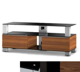 Sonorous MD9120BHBLKWNT - Meuble pour ecran Plasma/LCD en verre et bois