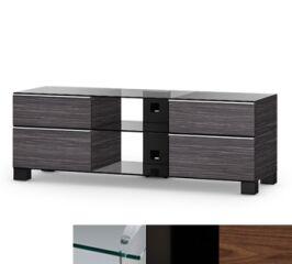 Sonorous MD9240CHBLKWNT - Meuble pour ecran Plasma/LCD en verre et bois