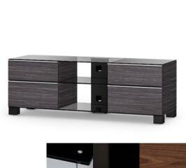 Sonorous MD9240BHBLKWNT - Meuble pour ecran Plasma/LCD en verre et bois