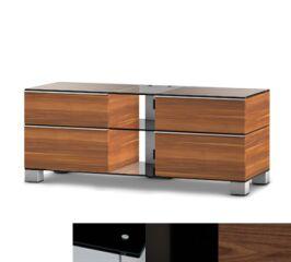 Sonorous MD9220BHBLKWNT - Meuble pour ecran Plasma/LCD en verre et bois